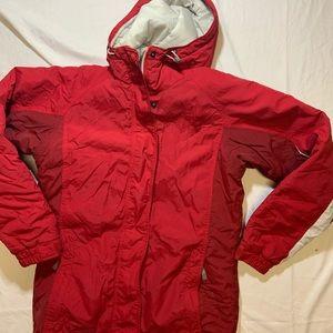 Columbia Women's Red Nylon Winter Hoodie Ski Coat